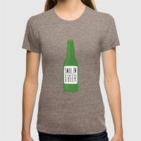 Smile, I'm your beer Womens Fitted Tee Tri-Coffee SMALL
