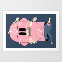 The Decapitation of the Cave Giant Art Print