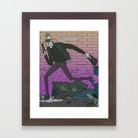 Alley Freak Framed Art Print