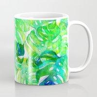 Tropical Leaf Print Mug