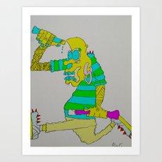 Punk Monster's not Dead!! Art Print