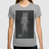 Fox Fur Womens Fitted Tee Athletic Grey SMALL
