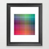 Rainbow Squares Framed Art Print