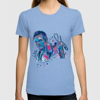 Daryl Dixon // OUT/CAST Womens Fitted Tee Tri-Blue SMALL