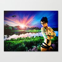 As The World Gently Weep… Canvas Print