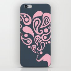 Pink Grey Paisley Elephant Pattern Design iPhone & iPod Skin