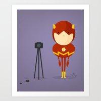 My Camera Hero! Art Print