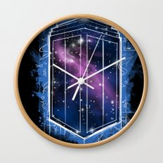 Time, Space, and Graffiti  Wall Clock