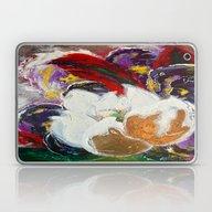 Purple Peonies In Gold W… Laptop & iPad Skin