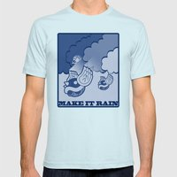 Make It Rain Mens Fitted Tee Light Blue SMALL