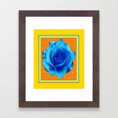 Decorative Blue Rose Yel… Framed Art Print