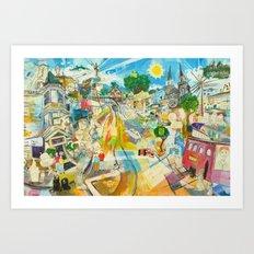 Good Day Sunshine Pierre Valley Art Print
