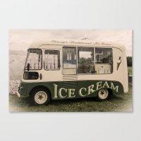 Scream For Vintage Ice C… Canvas Print