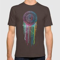 Watercolor Dream Catcher Mens Fitted Tee Brown SMALL