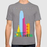 Shapes of Hong Kong. Accurate to scale Mens Fitted Tee Tri-Grey SMALL
