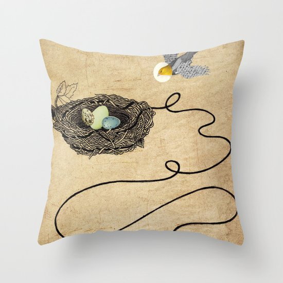 Bird's Winged Flight  Throw Pillow