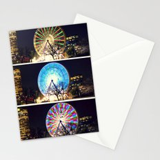 Melbourne Ferris Wheel Triptych  Stationery Cards