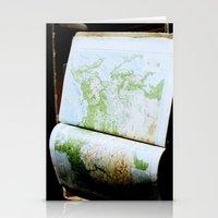 Vintage Map Stationery Cards