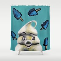 Pete and Pete Mr Tastee - Blue Tornado Bar Shower Curtain