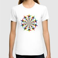 Star Space Womens Fitted Tee White SMALL