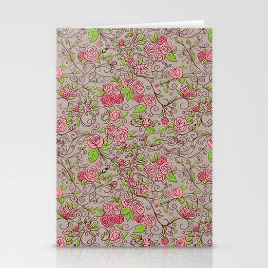 Floral  Stationery Card