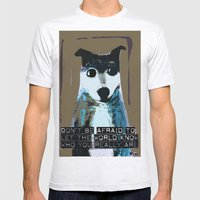 Blue Dog Mens Fitted Tee Ash Grey SMALL
