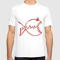 red fish Mens Fitted Tee White SMALL