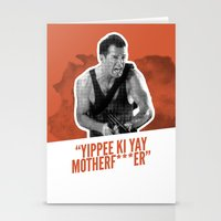 Badass 80's Action Movie Quotes - Die Hard Stationery Cards