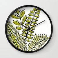 Fern Study Wall Clock