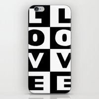 Love Black iPhone & iPod Skin