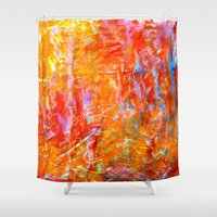 Abstract With Circle In … Shower Curtain