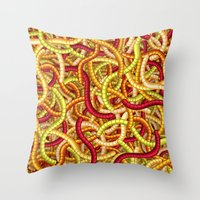Worms Throw Pillow