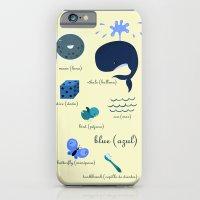 Colors: blue (Los colores: azul) iPhone 6 Slim Case