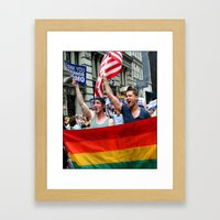 Gay Pride Parade Marchers 2 Framed Art Print