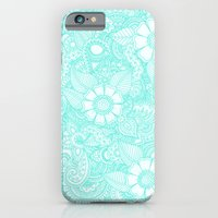 Henna Design - Aqua iPhone 6 Slim Case