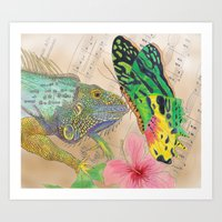 Beauty and the Butterfly Art Print
