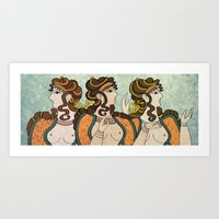 Ladies of the court Art Print