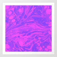 Purple Marble Magic Art Print