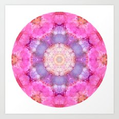 Cotton Candy Mandala Art Print