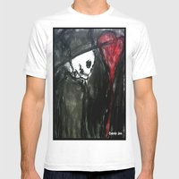 Dark Romantic Mens Fitted Tee White SMALL