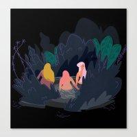 Night Pond Canvas Print