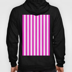 Vertical Stripes (Hot Magenta/White) Hoody