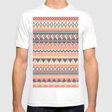 Bohemian  White SMALL Mens Fitted Tee
