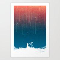 Meteor Rain (light Versi… Art Print