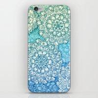 Blue Green Ballpoint Pen Doodle Poem iPhone & iPod Skin