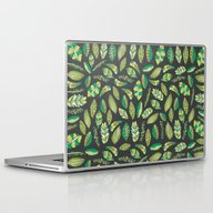 Laptop & iPad Skin featuring Night Tropical Jungle by Pom Graphic Design