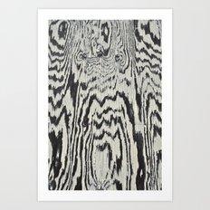 Zebra Wood Art Print