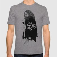 Alan Moore Mens Fitted Tee Tri-Grey SMALL