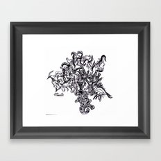 Four Way Branch Framed Art Print