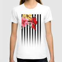 stripes T-shirts featuring FLORA BOTANICA | stripes by Cheryl Daniels